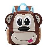QinMM Kinderrucksack Kleinkind Kid Schultaschen Kindergaten Cartoon Schultertasche Bags Cute Kawayi Rucksack Mehrfarbig (G)