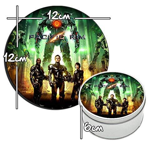 MasTazas Pacific Rim Idris Elba Charlie Hunnam Rinko Kikuchi Runde Metalldose aus Zinn Round Metal Tin Box