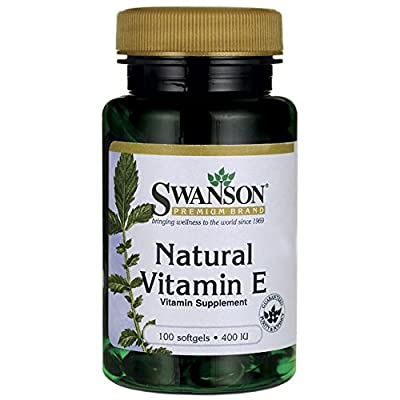 Swanson Natural Vitamin E 400IU, 100 Softgels by Swanson Health Products