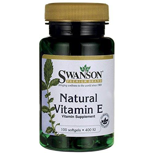400 Ie Natürliches (Swanson - Vitamin E 100% Natürlich 400 IE, 100 Kapseln - Hochdosiertes D-Alpha-Tocopherolacetat (Acetate Tocopherol) - Bio-Aktiv Antioxidans mit Anti-Aging-Faktor (Natural Vitamin E softgels capsules))