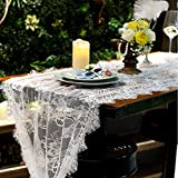 Axiba Runner Lace Hollow Tablecloth Christmas Party Wedding Decorations 75 * 300