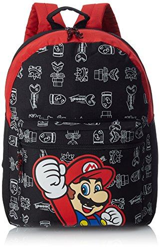 Nintendo Super Mario Bros. Casual Daypack, Nero (nero),