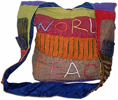 Hippie Boho Multi Color del Himalaya Festival étnico, comercio justo bolsa de hombro
