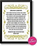 DANKE FÜR ALLES - Bild Danksagung Eltern mit schwarzen Rahmen – Geschenk Geschenkidee Geburtstag Hochzeitstag Weihnachten