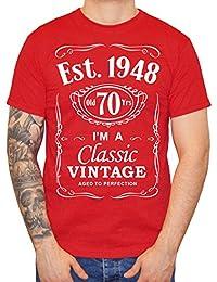 IiE, 70th Birthday, Est. 1948, Vintage year, Mens Gift T-shirt,