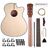 Caiyuangg®40 Pouces DIY Kit de Guitare Folk Acoustique Tilleul Naturel Cadeau à Amis/Famille