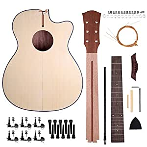 caiyuangg acoustic guitar kit diy design your own style 40 inch with steel string. Black Bedroom Furniture Sets. Home Design Ideas