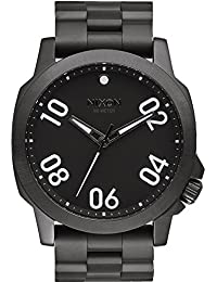 Nixon Herren-Armbanduhr Ranger 45 SS All Black Analog Quarz Edelstahl A521001-00