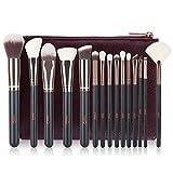 Make-up Pinsel MSQ 15pcs Pro Roségold Make-up Pinsel Set mit Tasche & Natural Hair (Foundation Pinsel, Puderpinsel, Lidschatten Pinsel) Am besten für Reisen & Geschenke - Rose Gold