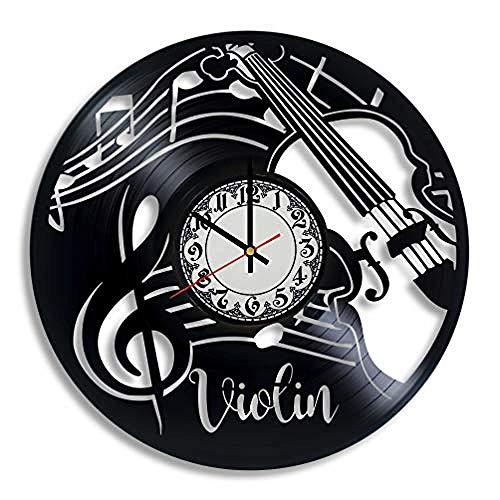 AIYOUBU Violine Geschenke für KinderVioline KunstVioline WanduhrMusikliebhaberGeschenk für LehrerOrchester Lehrer GeschenkVioline Dekoration Weihnachten