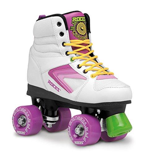 Roces Damen Kolossal Rollerskates/Rollschuhe Street, weiß-purple-Gelb, 40