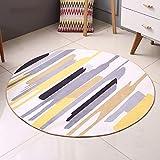 WEI Geometrische Teppich Studie Moderne Einfache Rundschreiben Teppich Schlafzimmer Wohnzimmer Nordic Teppich Nachttisch Computer Stuhl Kissen,Durchmesser 80cm