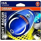 Osram Night Racer Plus 64193NRP-01B H4 12V 60/55W Single Blister Motorbike Headlight Bulb