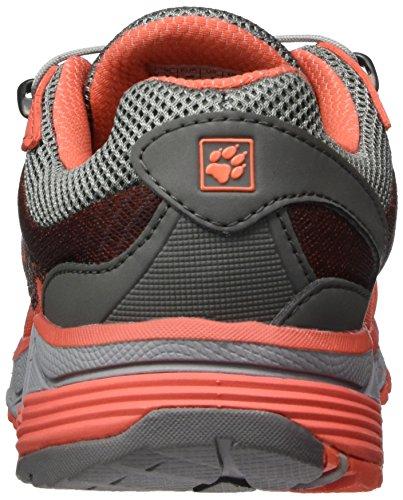 Jack Wolfskin Zenon Track Low W, Scarpe da Trail Running Donna Arancione (Hot Coral)