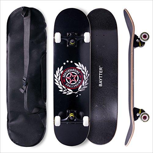 BAYTTER® Skateboard Komplett Board Funboard 79x20cm mit