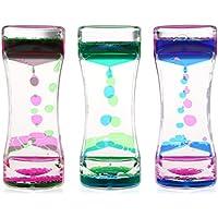 BESTOMZ 3pcs Reloj de arena Liquid - Pretty Cintura Decoración de regalo de cumpleaños de los niños de juguete