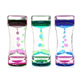 BESTOMZ 3 Pack Liquid Motion Timer Bubbler for Sensory Play, Fidget Toy for Play, Fidgeting, Captivating Distraction