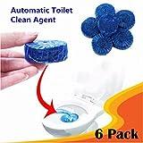 Désodorisant antibactérien, lavage de saleté, pastille bleue et parfumée, nettoyant WC–nettoyage automatique, bleu, Lot de 6