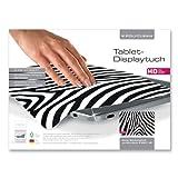 1x POLYCLEAN Displaytuch aus Microfaser P-9000 / Reinigungstuch für iPad, Tablet & Co. / Schutztuch für Bildschirm, Tastatur & Monitor (23 x 17 cm, Zebra)