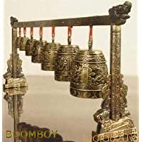 FidgetGear Rare Collectable Musical Meditation Gong with 7 Ornate Bells with Dragon Design