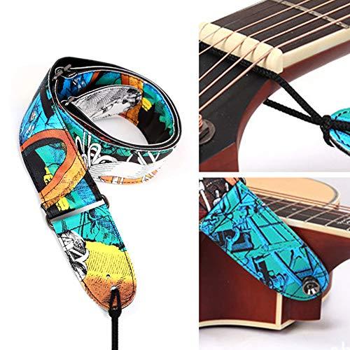 Römischen Kostüm Muster - B5645ells Elegante Graffiti einstellbare Spachtel Faux Leather Acoustic Folk Guitar Strap mehrfarbig