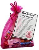 Best Gifts For 18th Birthdays - 18th Birthday Gift- Unique Survival Kit (Hot Pink) Review