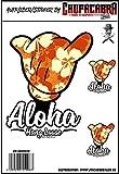 Aufkleberset Aloha Hang Loose Sticker Surfer Fun