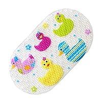 Top-Spring Kids Non Slip Suction PVC Bath Mat Safety Bath Mat 69 x 39CM (Colorful Duck)
