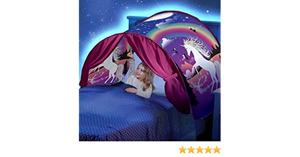 Iyhouse Magical World Tent,Unicorn Tent Dream Tent Childrens Indoor for Baby Childrens House Fancy Good Dreams (With LED light)