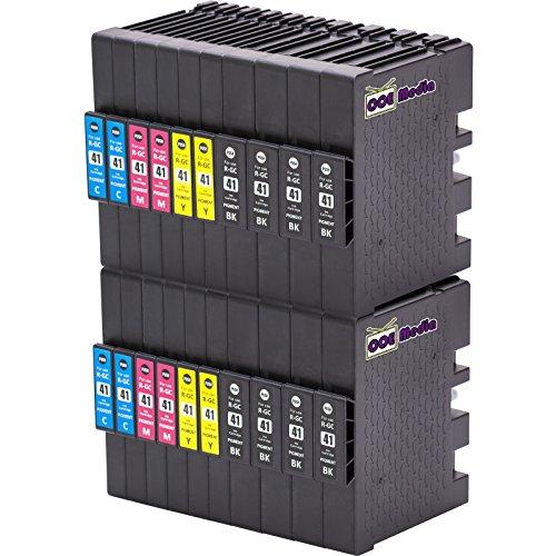 Preisvergleich Produktbild 20er Set - Druckerpatronen kompatibel zu RICOH GC41 / 8x schwarz & je 4x cyan magenta gelb / geeignet für Ricoh Aficio SG-2100N / SG-3100 Series / SG-3100SNW / SG-3110N / SG-3110DN / SG-3110DNW / SG-3110SFNW / SG-3120BSFNW / SG-3120BSF / SG7100DN