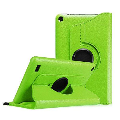 Kindle Fall Hd Fire 2015 7, (samLIKE 360 rotierenden Fall Abdeckung für Amazon Kindle Fire HD 7 2015 Tablet (Grün))