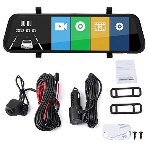 KIMISS 10 Zoll 1080P HD Touchscreen Rückfahrkamera Kit für DVR Recorder mit zwei Linsen und Videorecorder Touchscreen Rückfahrkamera