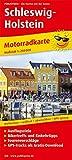 Schleswig-Holstein: Motorradkarte mit Ausflugszielen, Einkehr- & Freizeittipps und Tourenvorschlägen, wetterfest, reissfest, abwischbar, GPS-genau. 1:250000 (Motorradkarte/MK) -