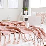 WY Klimaanlage Decke American Dicke Nadel Gewebte Linie Decke Sofa Decke Foto-Requisiten Stricken Shawl130x170cm