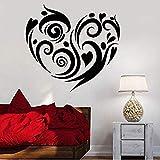 Papier Peint Amour Coeur Sticker Mural Romance Chambre Salon Décoration de La Maison Vinyle Stickers Muraux Art Amovible Mural Fenêtre Stickers 74 * 87Com: Amazon.fr: Bricolage & Amp;Outils