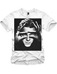 7d8fed309f23bc E1SYNDICATE T-SHIRT STEVE MCQUEEN THE KING OF COOL BULLIT ELEVEN S-XL