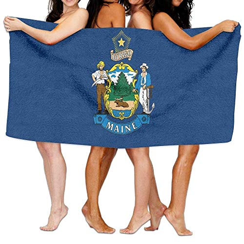 jinhua19 Toallas de Playa baño Unisex Maine Flag Beach Towels Bath Towels For Teen Girls Adults Travel Towel Washcloth 31x51 Inches