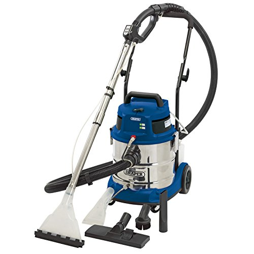 Draper 75442 20L 1500W 230V Wet and Dry Shampoo/Vacuum Cleaner - Blue