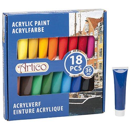 Artico 52794 - Acrylfarbe 18 teilig
