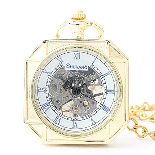Sunbobo mens pocket watch orologio da taschino meccanico scolpito in oro con orologio da taschino regalo, ringraziamento, festa del papà