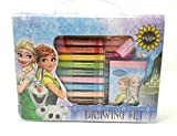 #9: HMI Original Disney Frozen Licensed Colour Drawing Set with Colour Pens, Oil Pastels and other required Stationery in box packing, 28 Pieces Set