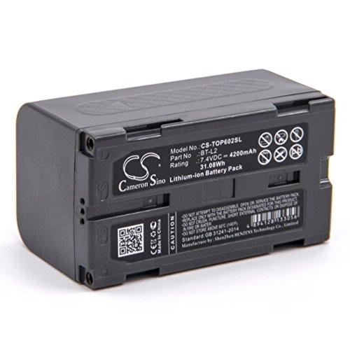 vhbw Li-Ion Akku 4200mAh (7.4V) für Messgerät Topcon ES Total Station, ES-600G, ES-602, ES-602G, ES-605, ES-605G, Hiper II, OS Total Station