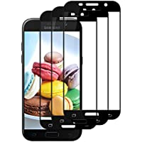 Jwlife [3 Stück] Panzerglas Schutzfolie Samsung Galaxy A5 2017, Displayschutzfolie Samsung Galaxy A5 2017,Kratzfest,Blasenfreie Installation,9H Härte,Anti-Öl und Fingerabdruck(schwarz)