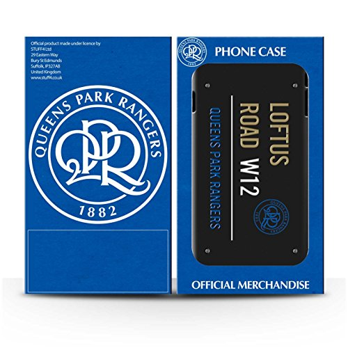 Offiziell Queens Park Rangers FC Hülle / Matte Snap-On Case für Apple iPhone 5C / Pack 8pcs Muster / QPR Loftus Road Zeichen Kollektion Schwarz/Gold