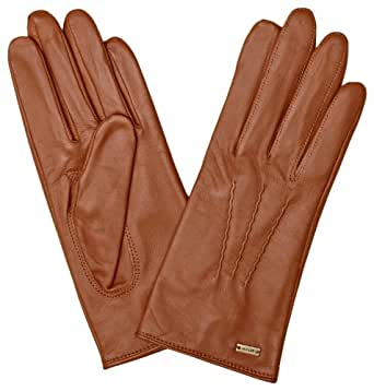 Tommy Hilfiger Classic Pleated Women's Gloves Tan Medium/Large