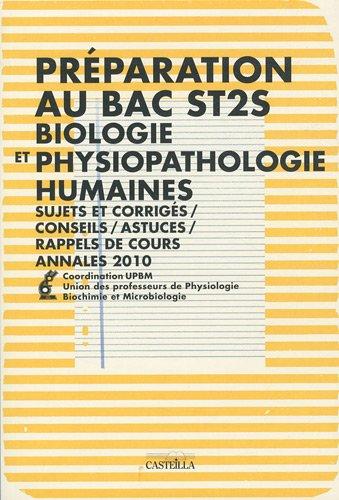 Préparation au Bac ST2S Biologie et physiopathologie humaines
