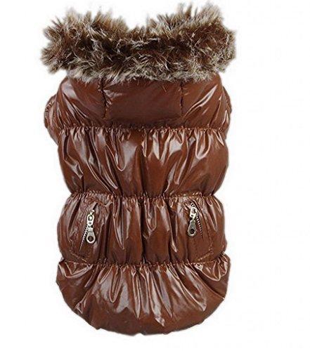 Y-BOA 1PC Manteau A Capuche Pour Mini Chien Hiver Chaud Vêtement Animaux