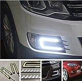 #6: EASY4BUY 2X Car U Shape COB Led Daytime Running Lights Lamp DRL Light CAR Fog Light