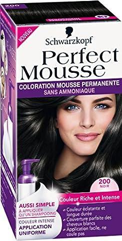 Schwarzkopf Perfect Mousse - Coloration Permanente - Noir 200
