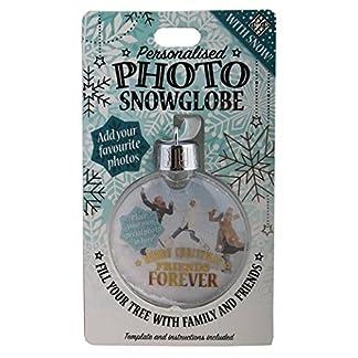 H & H Foto Personalizada Snowglobe–de Bolas de árbol de Navidad Amigos para Siempre